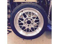 "1 x BBS RC041 17"" 7.5J / BMW E36 wheels / New Michelin Pilot"