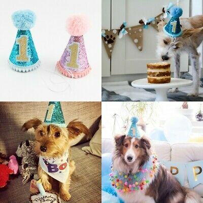 Shiny Sequin Birthday Hat For Dog Cat Party Costume Cap Pet Headwear Accessories - Cat Costume Accessories
