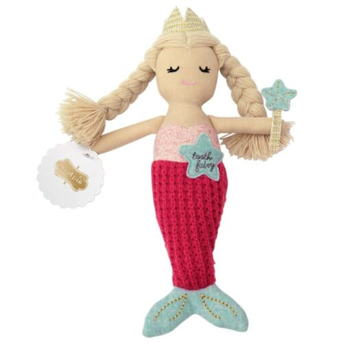 Mud Pie E8 Baby Boutique Girl Mermaid Tooth Fairy Doll Toy 5