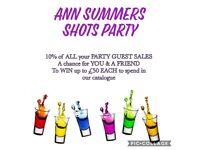 Ann Summers Shots Party