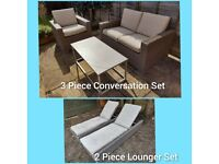 5 Piece Luxury Wicker Garden Furniture Set