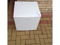 Matsui mini fridge with freezer compartment.