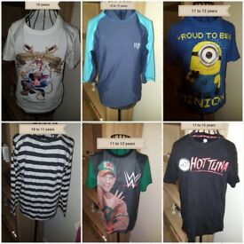 collection of boys tops