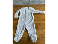John Lewis organic cotton baby grow
