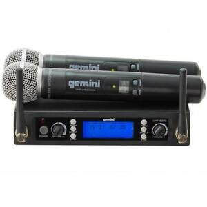 Gemini UHF6200M UHF Dual Wireless Microphone Multi-Channel Handheld
