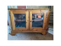 Corner wooden TV cabinet cupboard shelving