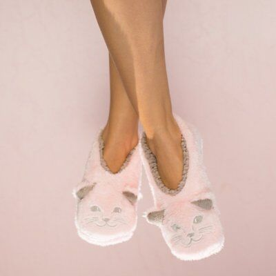 (Faceplant Dreams Footsie Slippers CAT NAPS ~Size MEDIUM 7/8 ~NWT~)