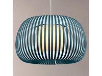 🔥🔥 John Lewis Harmony Velvet Ribbon Light, Small, Kingfisher RRP £105.00 🔥🔥