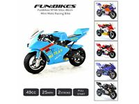 FunBikes MT4A 50cc 46cm Mini Moto Racing Bike 2 Stroke 25mph Motorbike