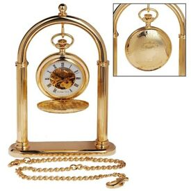 Double Hunter Pocket Watch and Stand