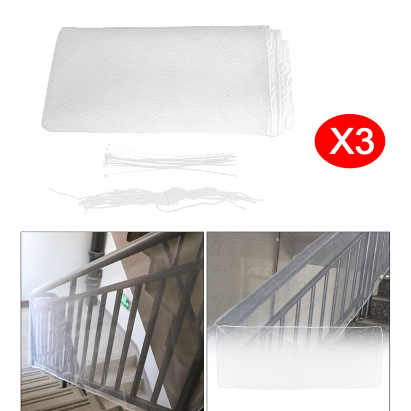 3x+Baby+Safety+Rail+Net+Banister+Stair+Balcony+Net+for+Indoor%2FOutdoor+3M