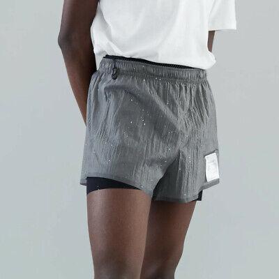BNWT Satisfy Running Steel Splattered Shorts - Size 1