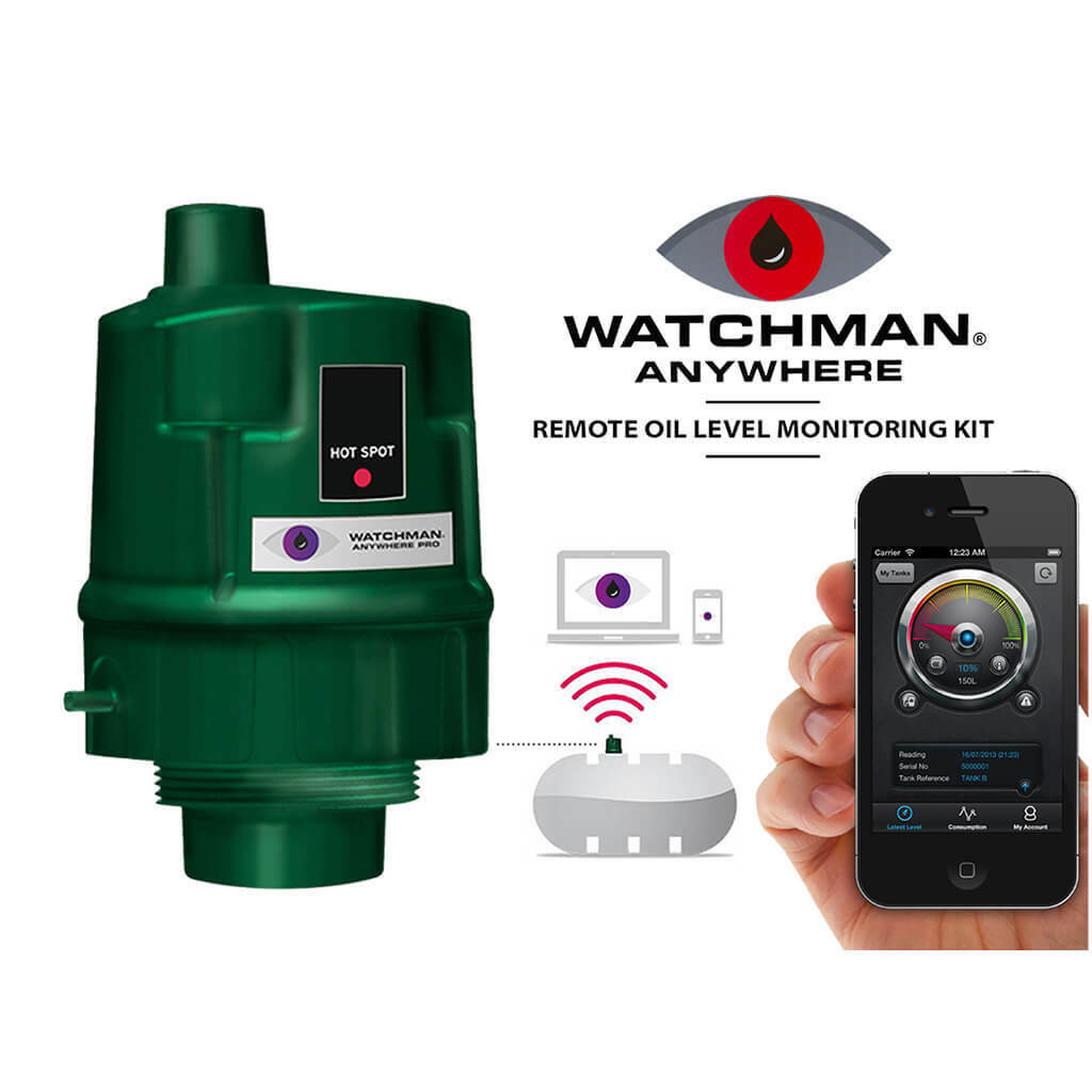 Watchman Anywhere Sonic Mobile Oil Tank Gauge Level Monitor Energy