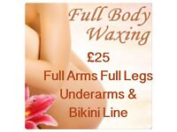 Full Body Wax £25 package