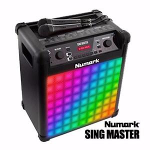 Numark Sing Master Karaoke Sound System with 2 Microphones, LED Lights with 60 Unique Built-in Vocal Settings