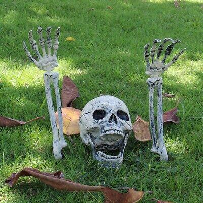 Indoor Halloween Decorations (Halloween Scary Horror Skeleton Decorations Bones Skeleton Head Outdoor)