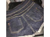 High waisted jeans denim