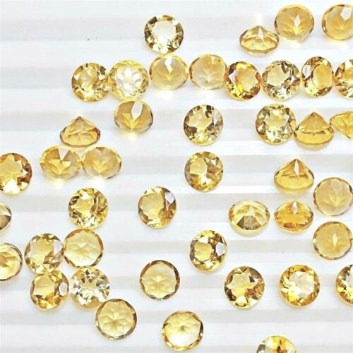 Wholesale Lot 7mm Round Facet Natural Citrine Loose Calibrated Gemstone Brazil