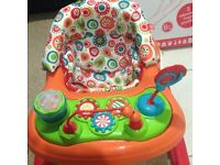 Red kite baby walker with removable play tray