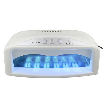 Professional UV Nail Dryer Machine 2 Hand 54 Watt Light Lamp Gel Fan Timer Salon