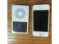 BROKEN IPHONE 4 & IPOD - FOR PARTS - FOR SALE - £25 together