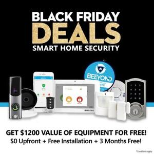 BLACK FRIDAY SALE - Smart Home Security Alarm $1200 Value Free. $0 Upfront + Free Install + 3 Months Free