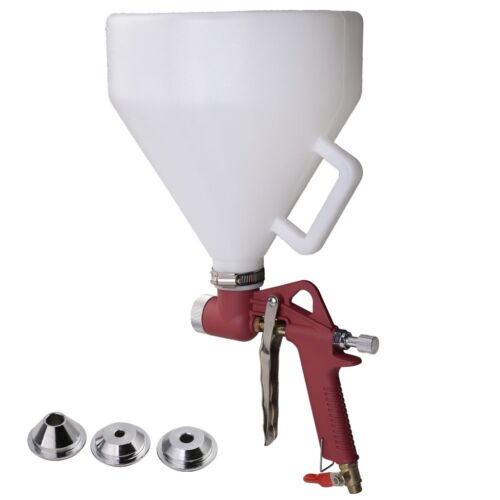 Paint Texture Drywall Wall Air Hopper Spray Gun Painting Sprayer with 3 Nozzle Business & Industrial