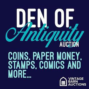 ENDS TONIGHT! ** ONLINE AUCTION! coins, comics, paper money, bank notes, rare finds, collectibles