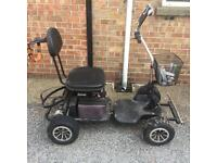 Electric golf cart single seat