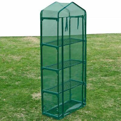 vidaXL Invernadero Portátil 4 Estantes Verde Caseta Cultivo de Plantas Jardín
