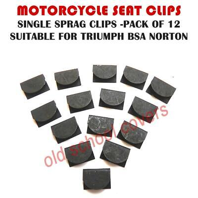 MOTORCYCLE SEAT CLIPS SPRAG TYPE   SINGLE  12 PACK TRIUMPH BSA NOR