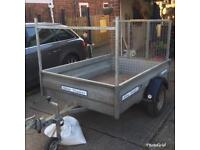 Wessex 6ft x 4ft trailer + load ramp & ladder rack