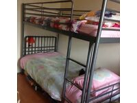 IKEA silver metal bunk bed