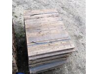 Heavy Duty Pallet Racking Timber Wood Decking Boards 1340mm x 700mm
