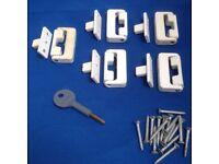 5 genuine CHUBB window locks with keys