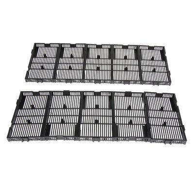 10 Pcs Aquarium Fish Tank Undergravel Filter Board Plate Black Plastic