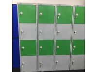 Lockers sold in sections of four