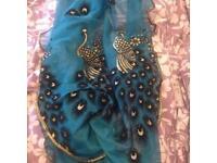 Brand New Ladies peacock Scarf
