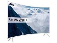 SAMSUNG 49KU6510 SMART 4K HDR CURVED LED TV WHITE