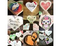 Personalised wooden Valentines heart gift