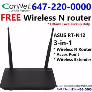 FREE wifi router with Unlimited Cable internet plan $38/month and up, call 514-466-0000 or 613-519-6000