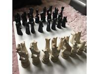 Kenyan soapstone chess pieces