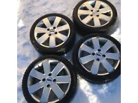 4x Winter Tyres on Ford Fiesta MK6 Alloys