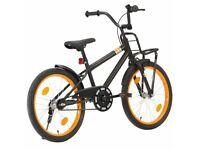 "Kids 20"" wheel bike in black with orange detail - BRAND NEW"