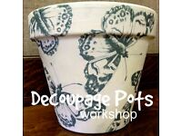 Decoupage Pots - Chalk Paint Workshop - Sat 23rd July 10am-4pm