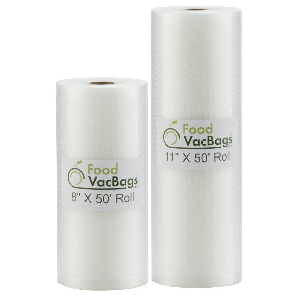 8X50 & 11X50 FoodVacBags Rolls Embossed Vacuum Sealer Bags f