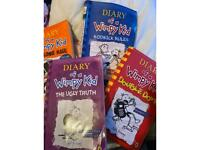 4 Diary of A wimpy kid by Jeff Kinney books