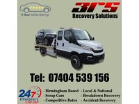 VEHICAL RECOVERY BASED IN BIRMINGHAM NON RUNNERS COPART SCRAP BREAKDOWN ACCIDENT 24HOURS 07404539156