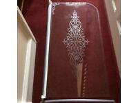 Damask Glass Shower Door
