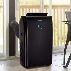 Portable air conditioner, 14,000 BTU, Danby, black